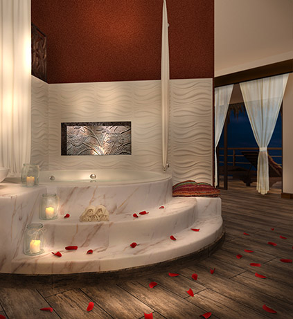 Indoor Jacuzzi for two